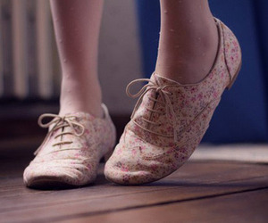shoes, floral, and oxford image