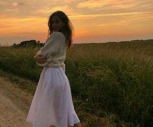 girl, fashion, and sunset image