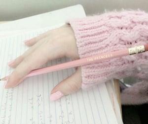 pink, pastel, and nails image
