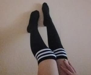 black, edgy, and legs image