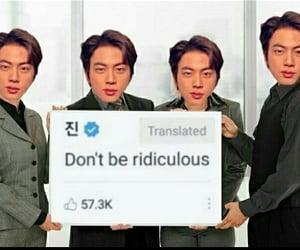 jin, meme, and kpop image