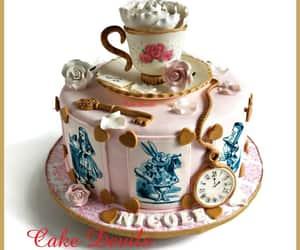 alice, cake decorations, and teacupandsaucer image