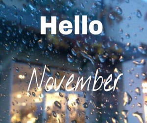 november, fall, and rain image