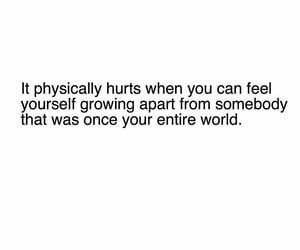heartbroken, i miss you, and love quote image