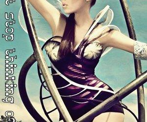 fashion, purple, and hair image