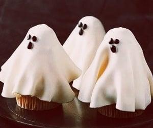 ghost, Halloween, and cupcake image