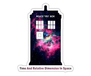 doctor who, sticker, and tardis image