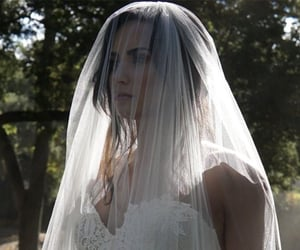 celebrity, demi lovato, and wedding dress image