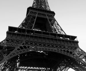 black-and-white, eiffel tower, and noir et blanc image