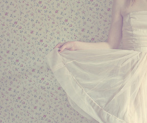 dress, floral, and pastel image