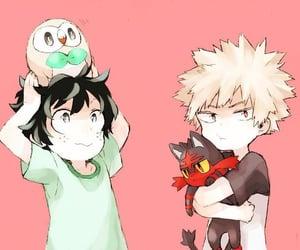 boku no hero academia, anime, and pokemon image