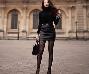 black, black clothes, and black eyes image