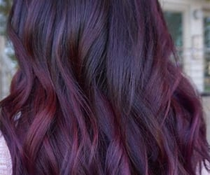 aubergine, color, and colorful hair image