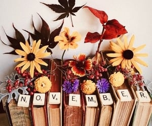 autumn, flowers, and months image