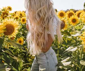 fashion, spring, and long hair image
