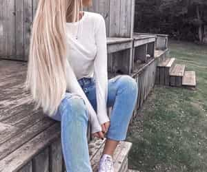 fashion, long hair, and gorgeous girly image