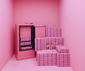 aesthetic, money, and pink image
