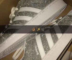 adidas, glitter, and snapchat image