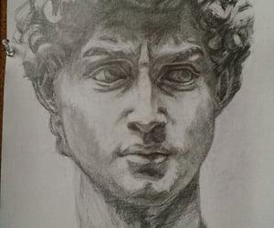 drawing, visual art, and pencil sketch image
