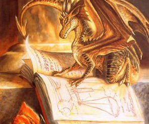 dragon, book, and rose image