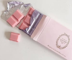 pink, chocolate, and aesthetic image