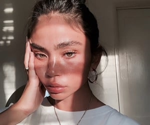 girl, beauty, and selfie image