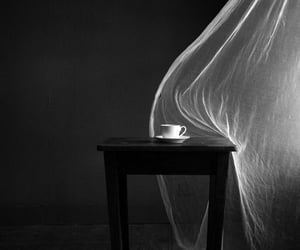 art, black and white, and coffee image