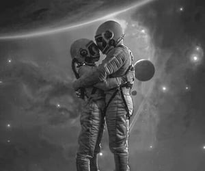 space, love, and couple image
