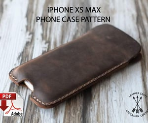 etsy, leather phone case, and iphone xs max case image