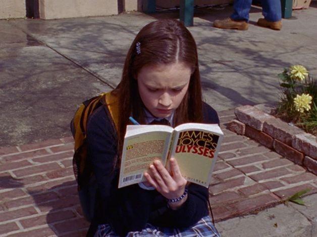 book, gilmore girls, and James Joyce image