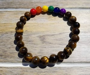 bracelets, rainbow colors, and etsy image