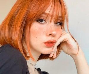 bangs, beautiful, and ginger image