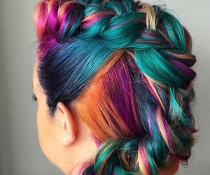 art, braid, and colours image