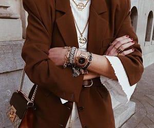 autumn, blazer, and blouse image