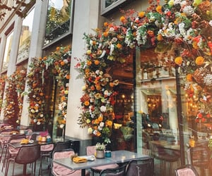 aesthetic, autumn, and cafe image