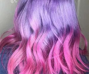 colourful, dyed hair, and hair image