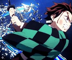 anime, tanjiro, and gif image