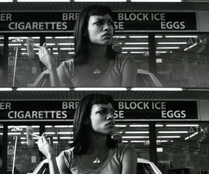 black and white, Death Proof, and Rosario Dawson image