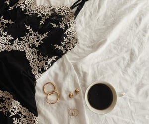 black, clothes, and coffee image