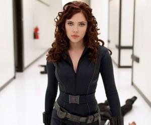 black widow, Scarlett Johansson, and Marvel image