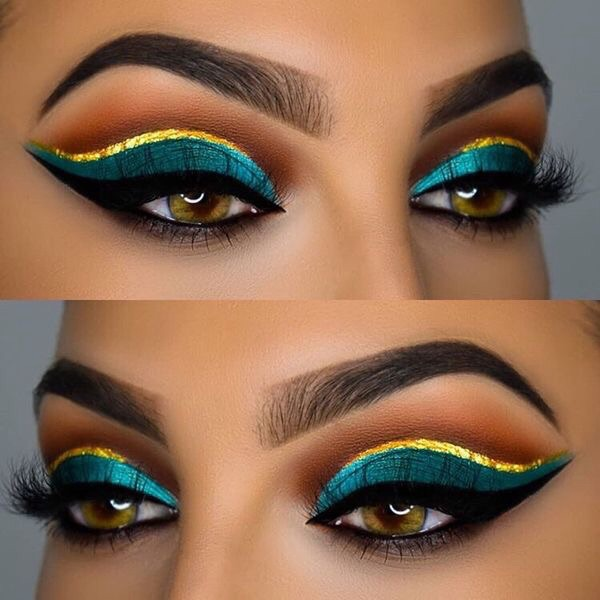 beauty, evening, and eye makeup image