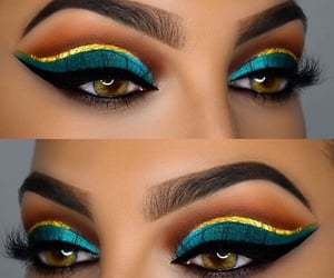 beauty, eye makeup, and goals image