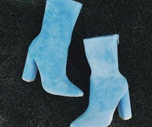 blue, heels, and fashion image
