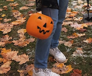 aesthetic, fall, and Halloween image