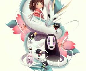 art, spirited away, and el viaje de chihiro image