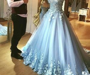 blue prom dress, elegant prom dress, and ball gown prom dress image