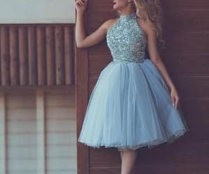 blue prom dress, cheap prom dresses, and cheap graduation dresses image