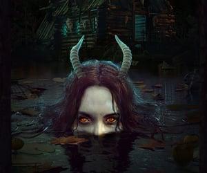 dark, demon, and fantasy image
