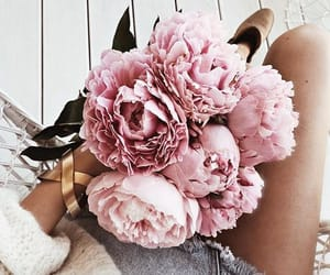 flowers, bouquet, and peonies image