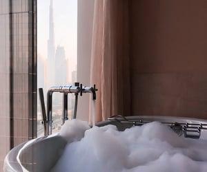 bath, Dubai, and bubbles image